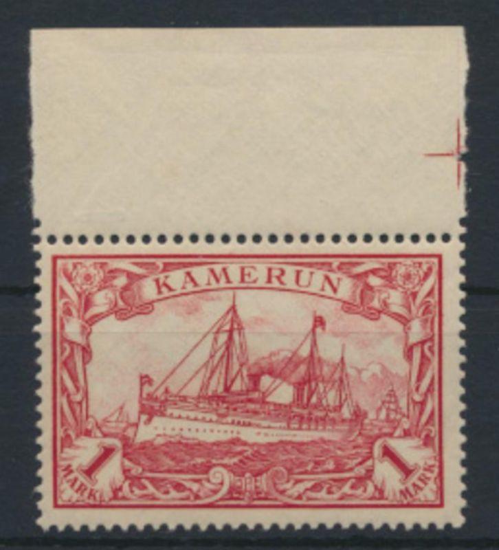 Deutsche Kolonien Kamerun 16 Oberrand Luxus postfrisch geprüft Bothe Kat. 200,00