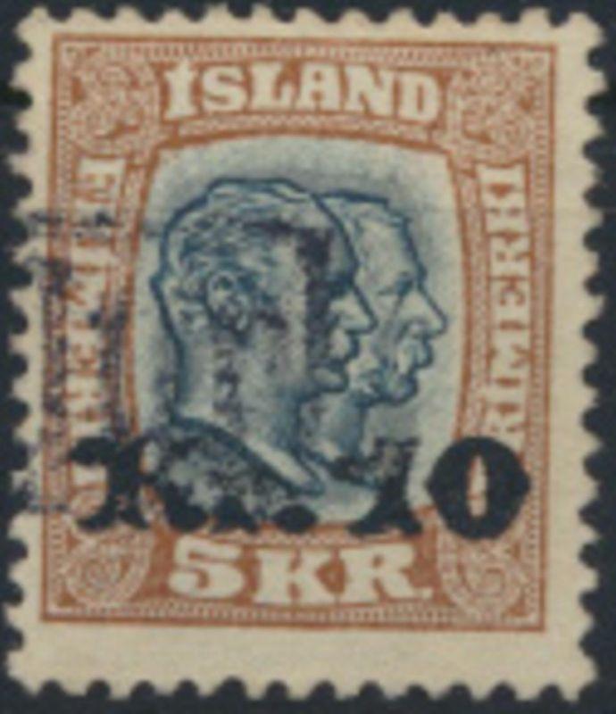 Island Mi 69 Gestempelt 1912 Nr