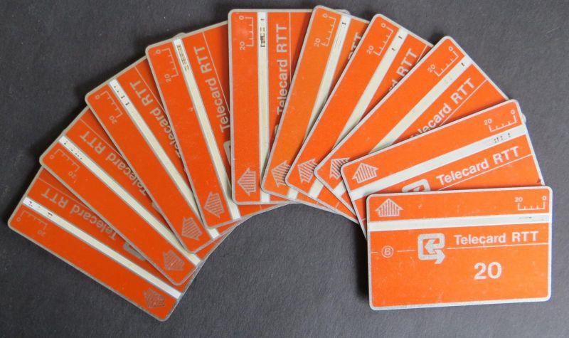 Sammlung 10 Telefonkarten 20 Units RTT Belgien