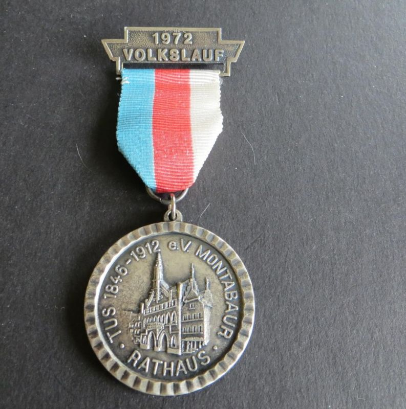 Medaille TuS 1846-1912 Montabaur Volkslauf Olympiajahr 1972 Rathaus