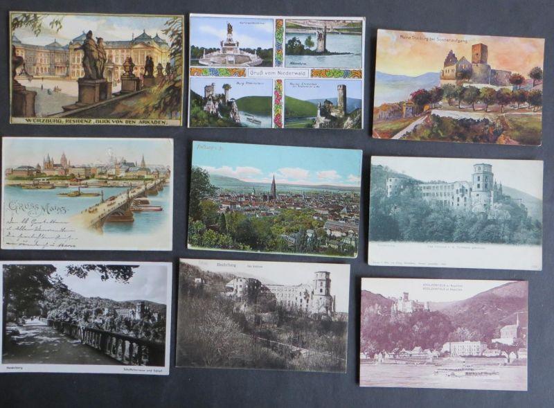 Sammlung Ansichtskarten Topographie Deutschland 166 Originale ca. 1899-1940
