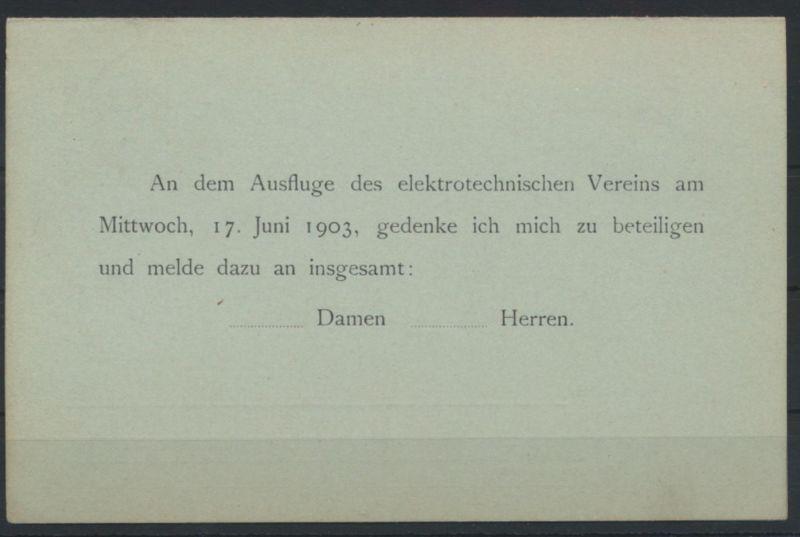 Deutsches Reich Ganzsache P 66Y Frage Antwort Zudruck Kiel Elektronischer Verein