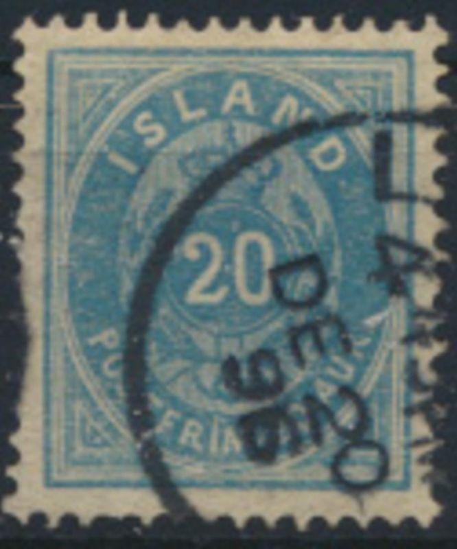 Island 14 A gestempelt - Freimarke Ziffern mit Krone 1882