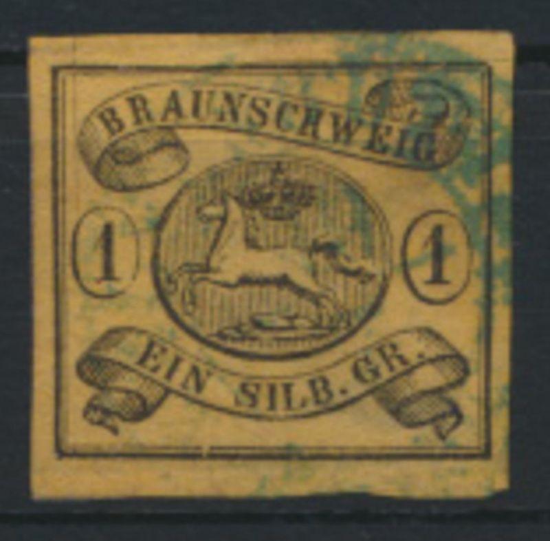 Altdeutschland Braunschweig 6 b mit Ortsstempel hinterlegt Kat.-Wert 100,00