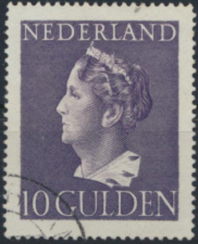 Niederlande 456 gestempelt - Königin Wilhelmina 10 Gulden violett
