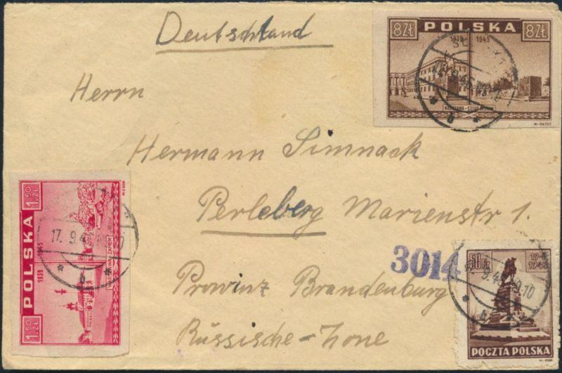 Polen Brief Mif 393414418 Slupsk Nach Perleberg 1791946 Nr