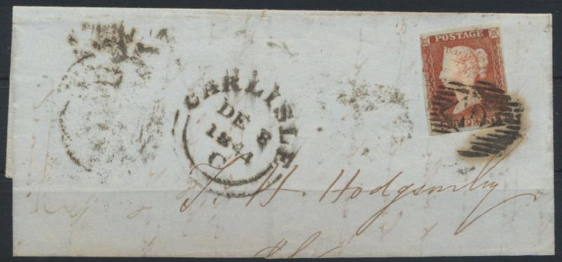 Großbritannien EF Queen Victoria ab CARLISLE rs. K1 TJ 7.DE.1844
