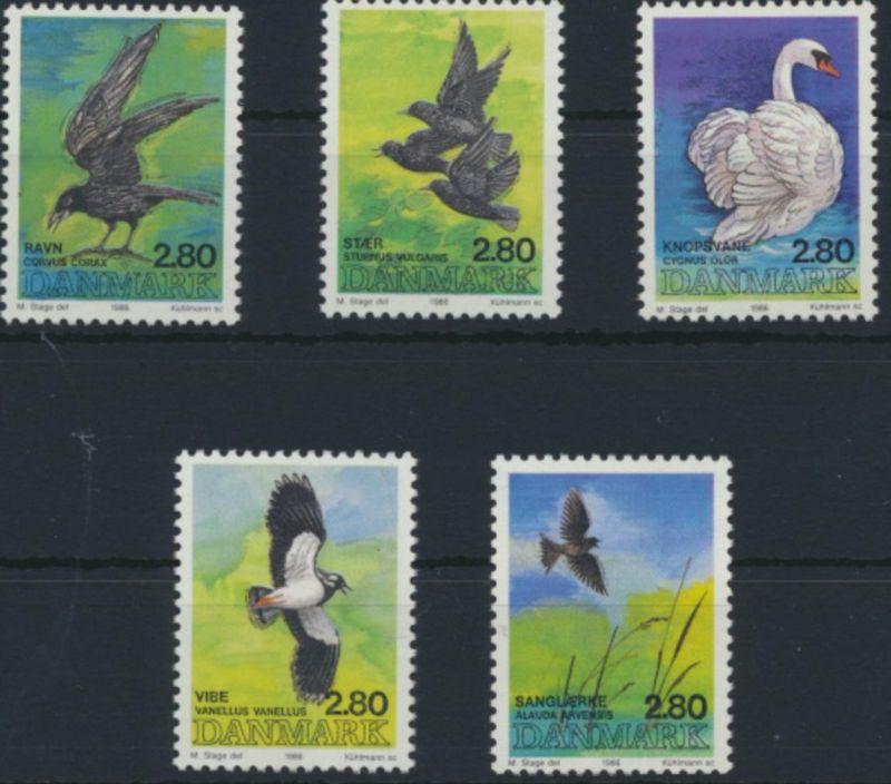 Dänemark 872-876 postfrisch MNH Vögel 1986 kompletter Satz