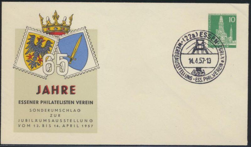 Berlin Privatganzsache Philatelie Essen SST Ausstellung 14.4.1957