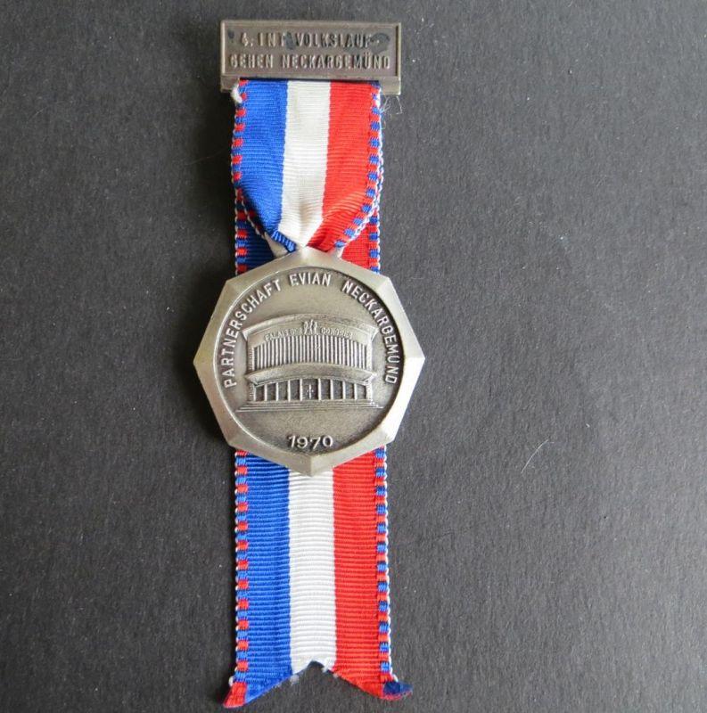 Medaille 4. Internationaler Volkslauf- Gehen Neckargemünd 1970 Evian