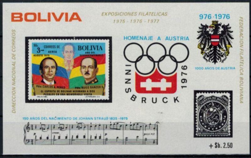 Uruguay Blockausgabe Briefmarkenausstellungen postfrisch 1975