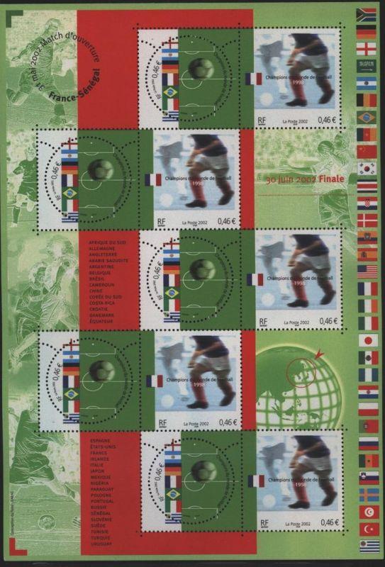 Frankreich 3620-3621 Kleinbogen Fußballweltmeister 20. Jhdt. 2002 postfrisch