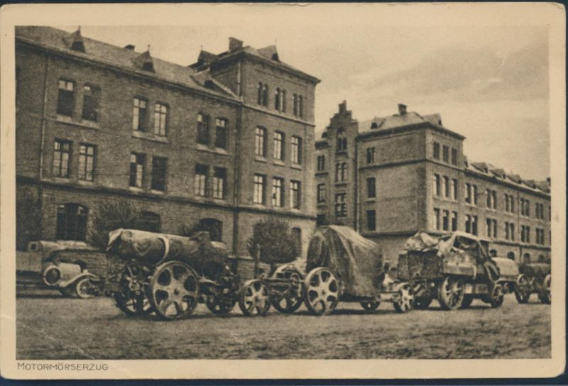 Ansichtskarte Motormörserzug Militär Krieg Armee Soldaten
