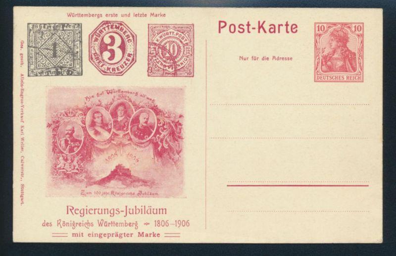 Deutsches Reich Privatganzsache PP 32 C 03 Regierungs-Jubiläum Königreichs