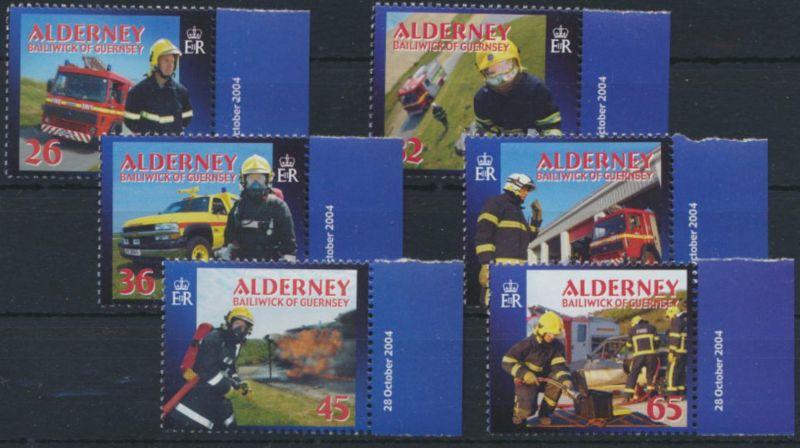Guernsey-Alderney 242-247 Feuerwehr 2004 mit Seitenrand postfrisch
