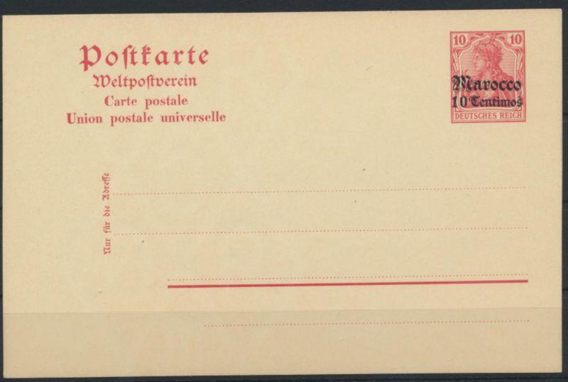 Kolonien Auslandspost Marokko Ganzsache P 14 Germania mit Aufdruck ungebraucht