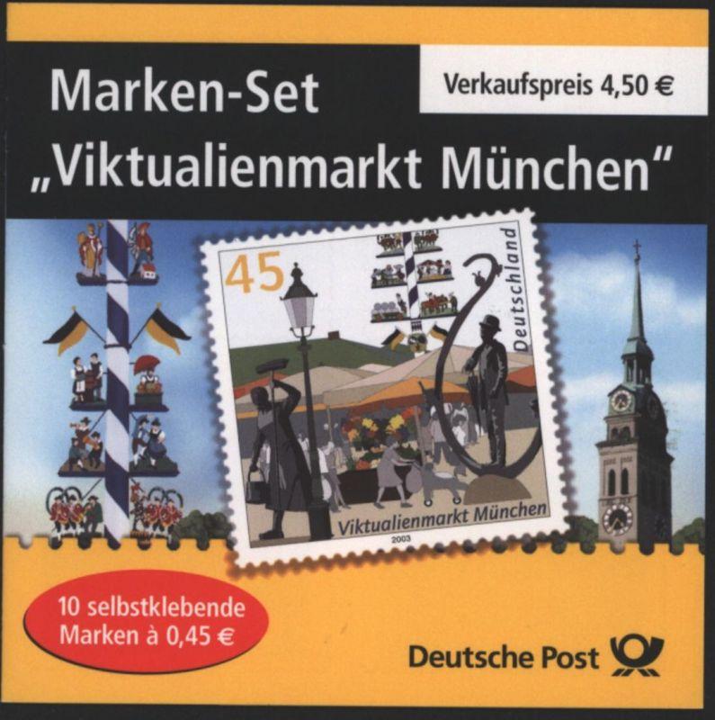Bund Markenheftchen MH 53 I Viktualienmarkt 2004 Ersttagsstempel FRANKFURT
