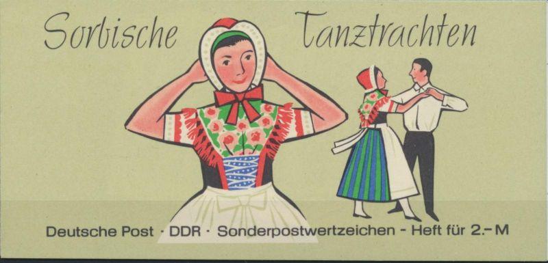 DDR Markenheftchen 5 I 3a Sorbische Tanztrachten 1971 postfrisch **