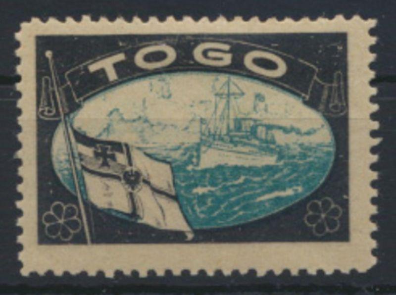 Deutsche Kolonien Togo Vignette Kaiseryacht