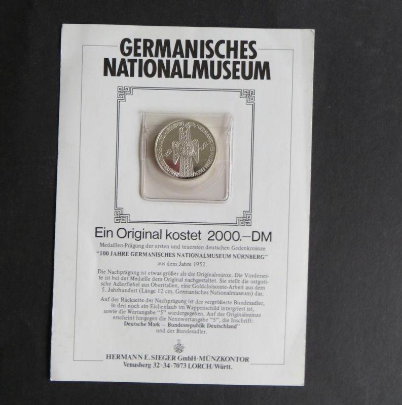 Germanisches Nationalmuseum Nachprägung Medaille