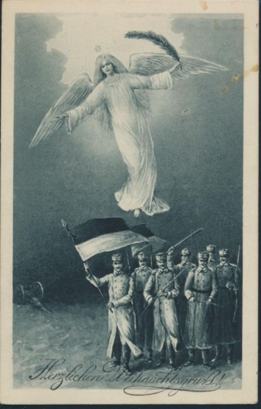 Ansichtskarte Wien Herzlicher Weihnachtsgruss Soldaten Weihnachtsengel