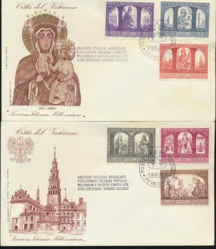 Vatikan 2 Briefe FDC 1966