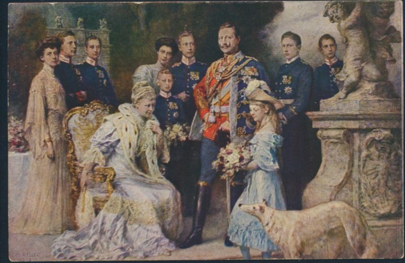 Ansichtskarte Kaiser Wilhelm II und Familie 1906
