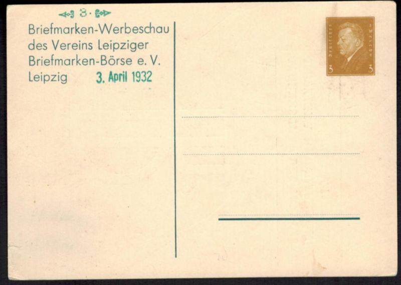 Deutsches Reich Privat-Ganzsache PP 106 D 01 Briefmarken Börse Leipzig ungebr.