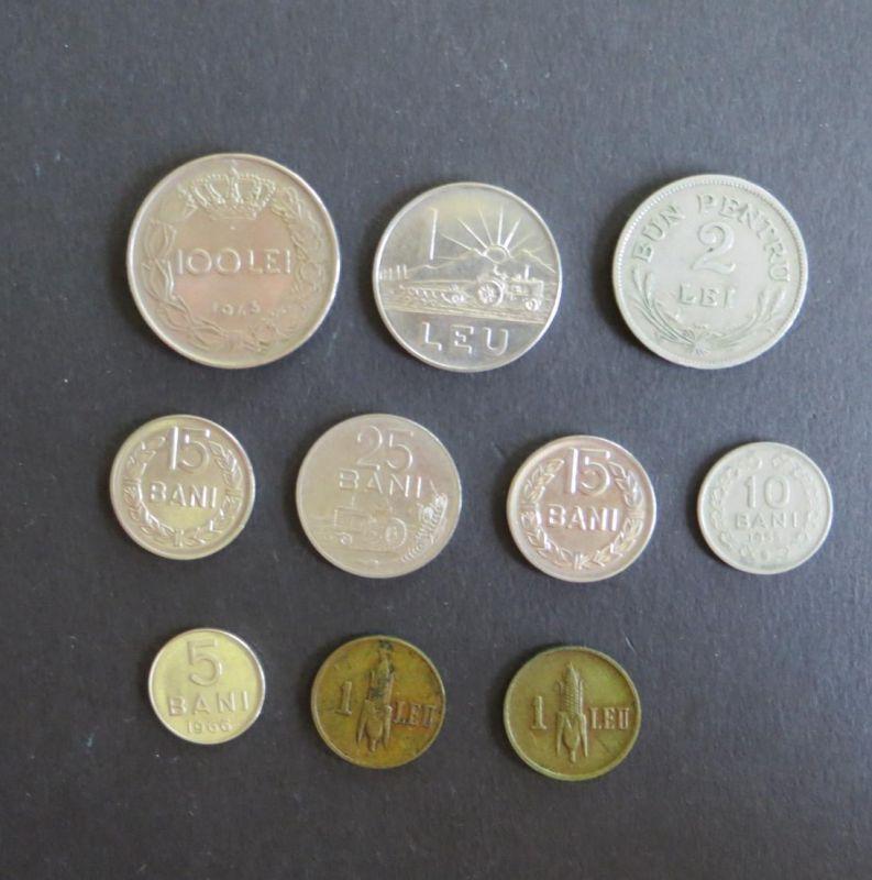 10 Münzen Rumänien Schön ex 50 -117 vz-ss