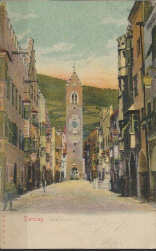 Ansichtskarte Südtirol Sterzing Zwölferturm über Bozen 1902