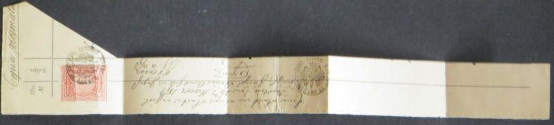 Preußen Stempelmarke 1 Mark auf Briefstück ca. 1879