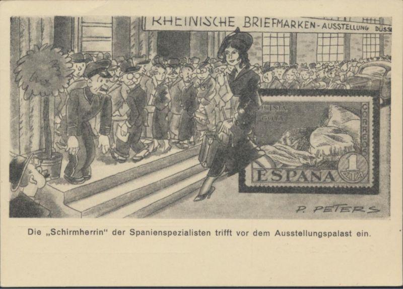 Reich Privatganzsache PP126C12 Künstler Peters Briefmarekn Ausstellung Düsseldor