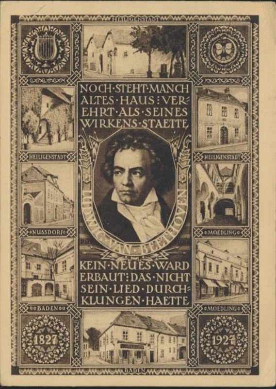 Österreich Ganzsache P 275 Beethoven Musik Komponist Innsbruck nach Schlesien