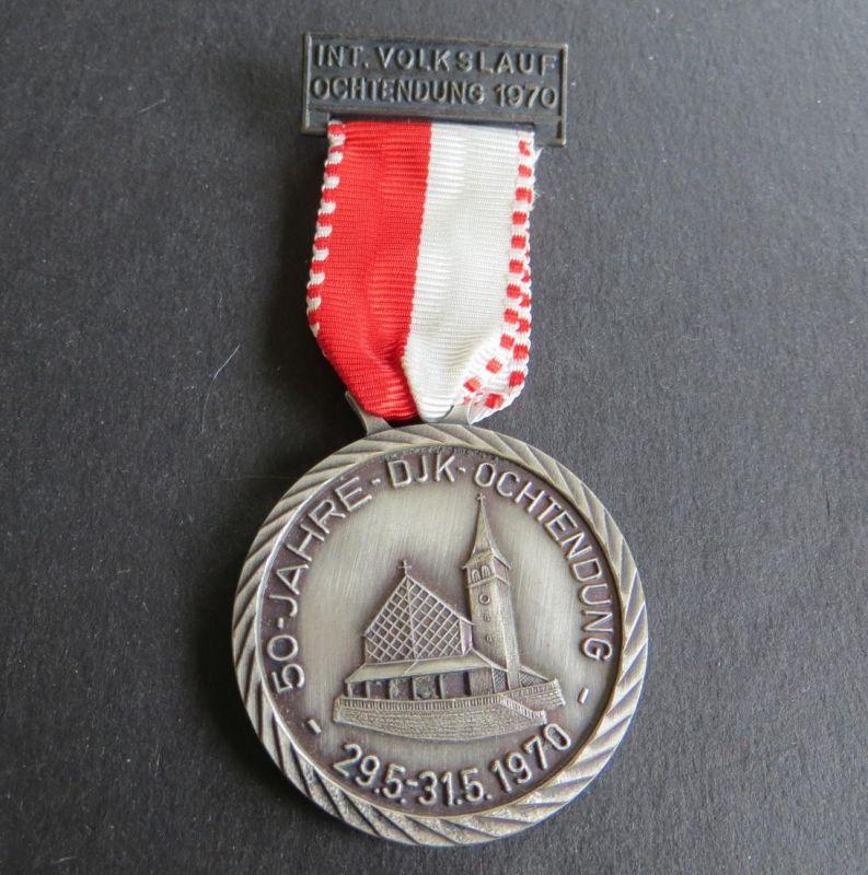 Medaille Internationaler Volkslauf Ochtendung 1970 50 Jahre DJK Ochtendunk