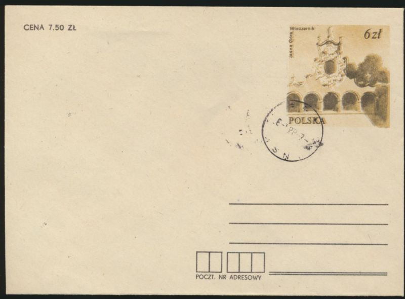 Polen Ganzsache Umschlag Poland postal stationery