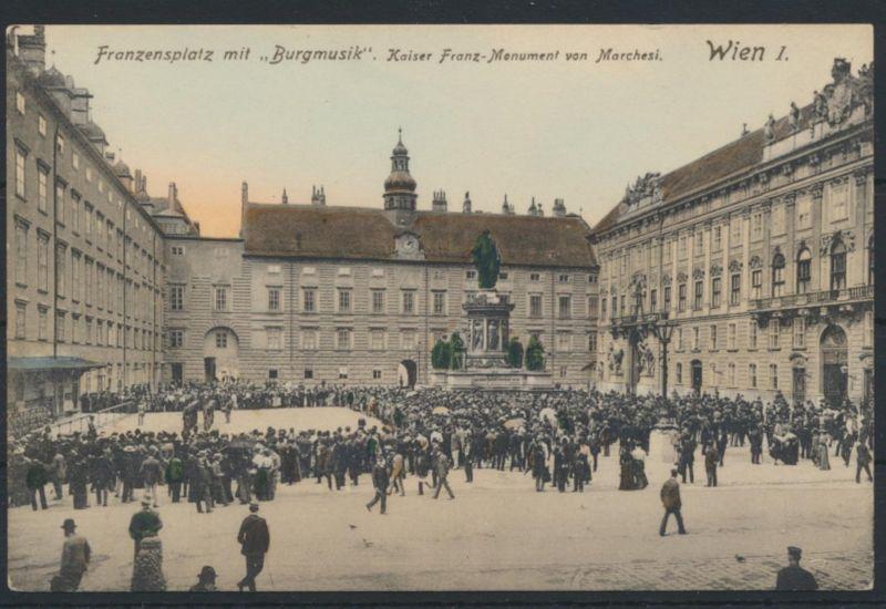 Ansichtskarte Österreich Wien Franzenplatz Burgmusik ungelaufen