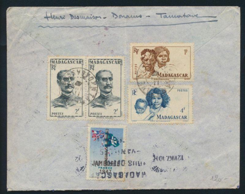 Madagaskar Brief 393,396 399 Vignette Motive Persönlichkeiten Madagascar Cover