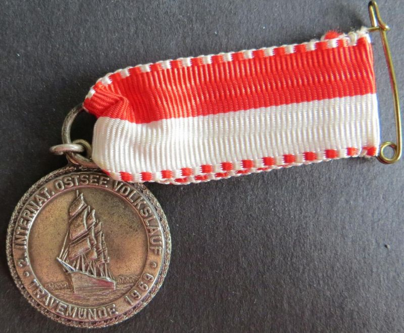 Medaille 2. Internationaler Ostsee Volkslauf Travemünde 1969