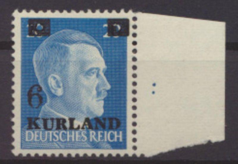 Besetzung 2. Weltkrieg Kurland 3 VI Loch i Balken postfrisch gepr Pickenpack BPP