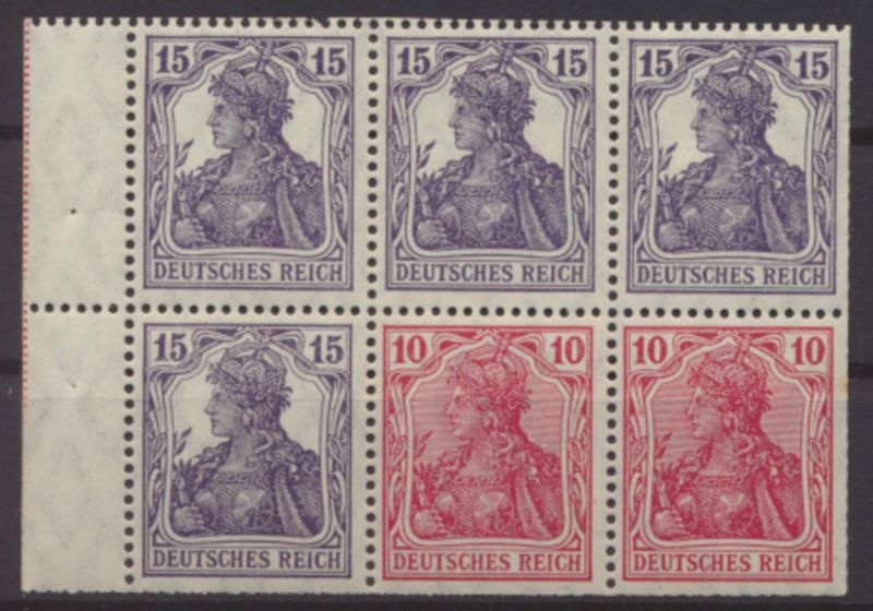 Deutsches Reich Zusammendruck Heftchenblatt 19 A ungebraucht Kat.-Wert 420,00