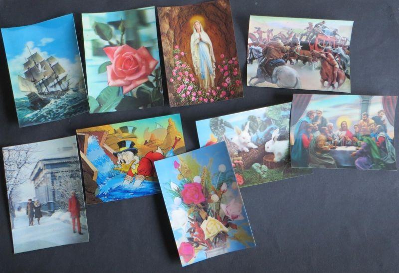 Ansichtskarten schöne Sammlung 3D-Karten mit vielfältigen, tollen Motiven Gesamt