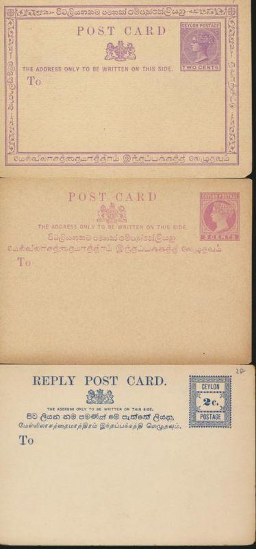 Sammlung Sri Lanka Ceylon Ganzsachen 29 Stück collection postal stationery ab