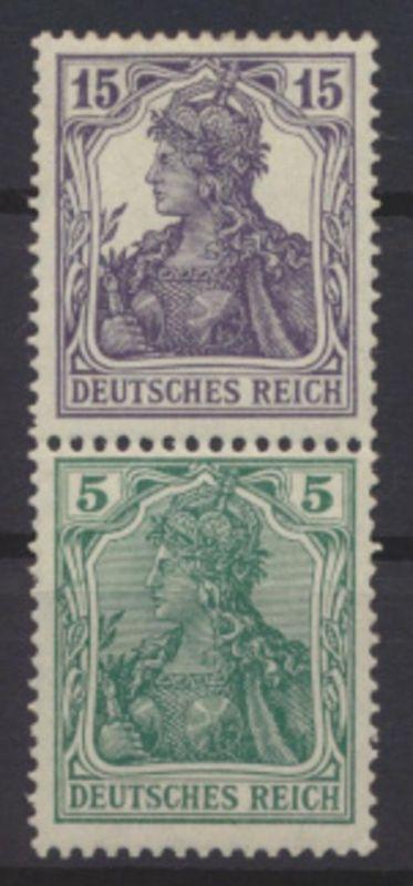 Deutsches Reich Zusammendruck Germania S 6 ungebraucht Neugummi