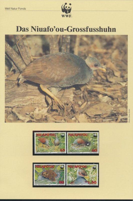 WWF Tonga 233-236 Niuafo'ou Großfußhuhn Tiere Vögel  kpl. Kapitel bestehend