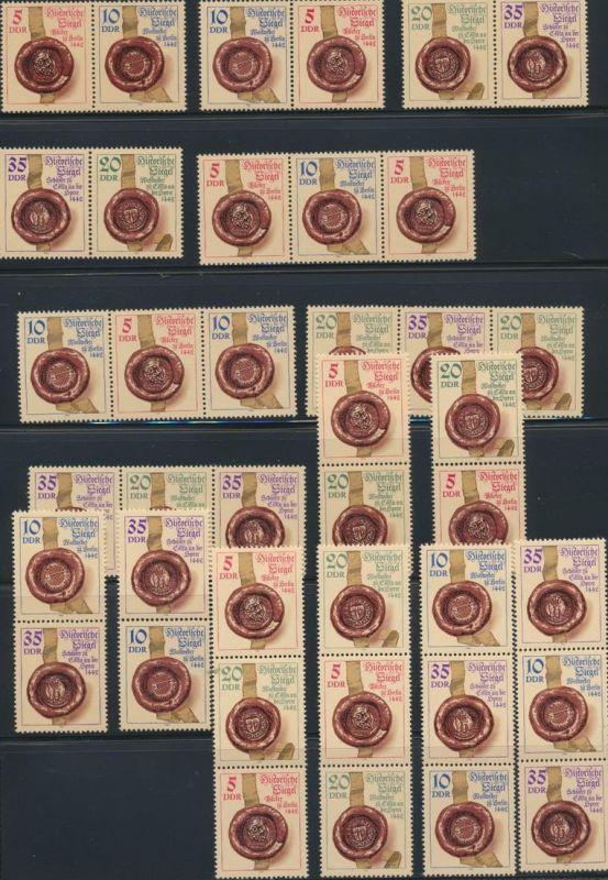 DDR Zusammendrucke 2884-2887 W ZD 600- S ZD 273 postfrisch Siegel komplett 75,00