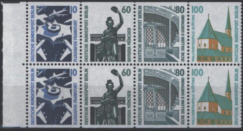Berlin Heftchenblatt H-Bl. 23 Sehenswürdigkeiten 1989 postfrisch MNH Kat.60,00