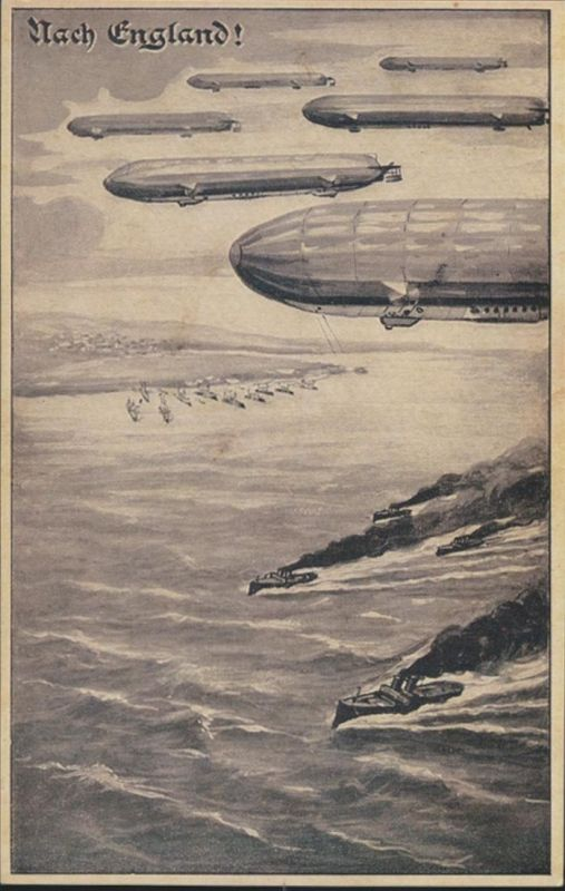 Ansichtskarte Zeppelin nach England ungelaufen