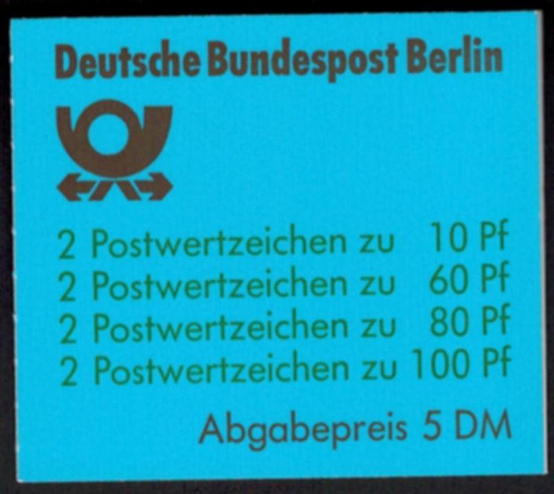 Berlin Markenheftchen 15 oZ Sehenswürdigkeiten Luxus postfrisch MNH Kat 60,00
