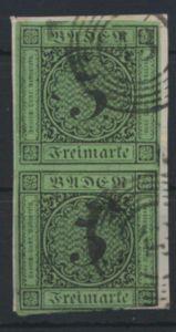 Altdeutschland Baden 6 Paar Plattenfehler III Briefstück Freiburg 43 Kat. 115,-