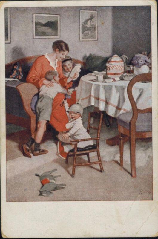 Ansichtskarte Feldpost Familie Frauen Liebe Künstler sign. B. Wennerberg